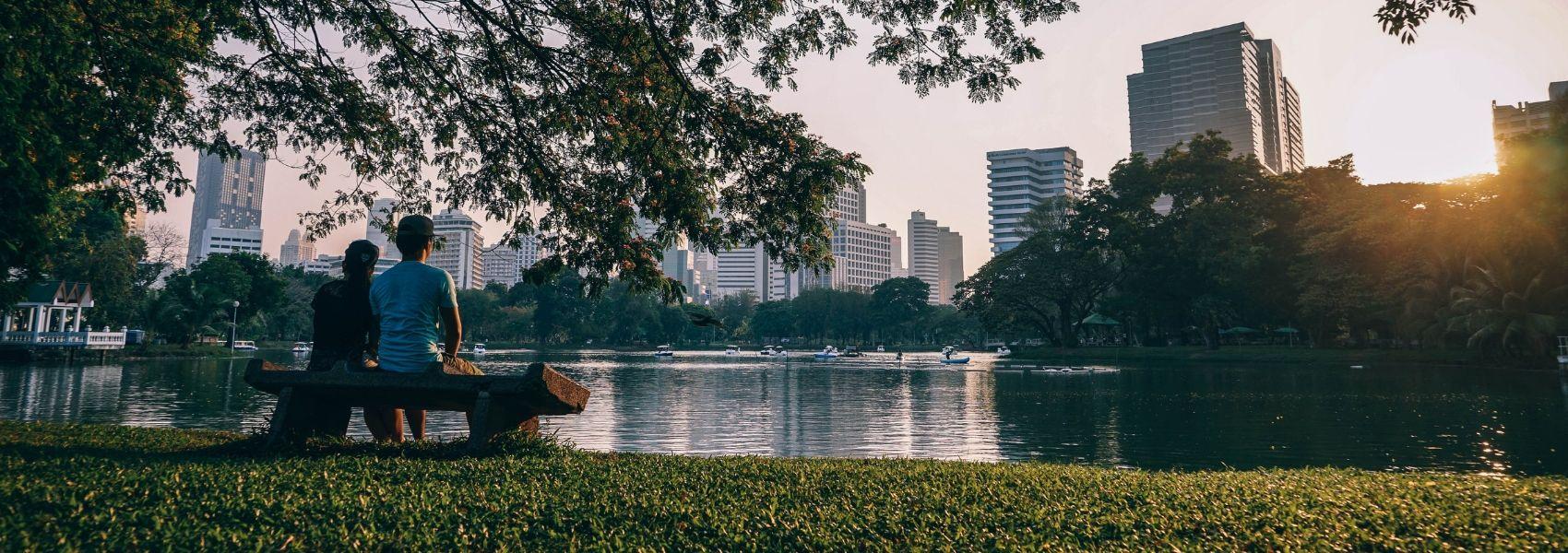 passeio nos parques na cidade