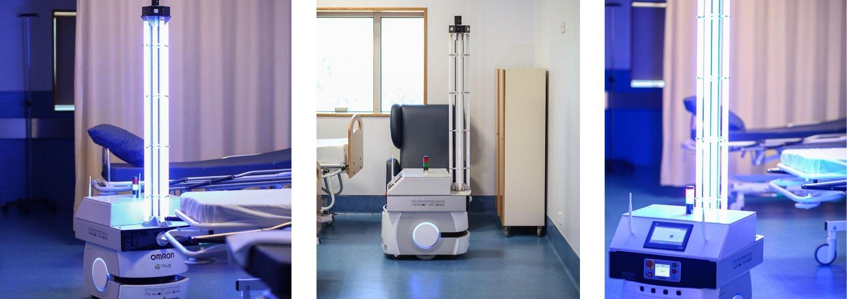 Robô de desinfeção testado no Hospital de S. Martinho, em Valongo